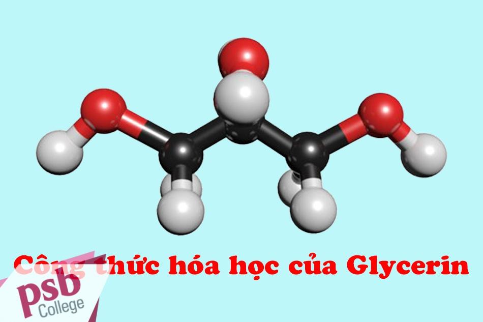 Công thức hóa học của Glycerin