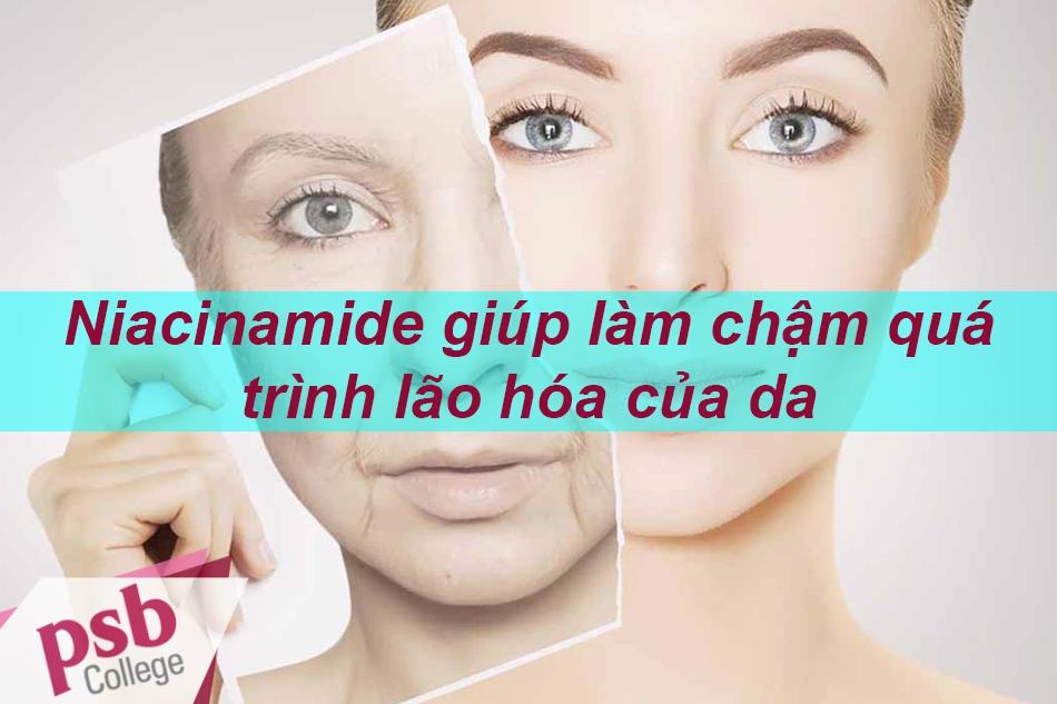 Niacinamide làm chậm quá trình lão hóa của da