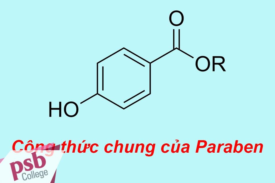 Công thức hóa học chung của Paraben