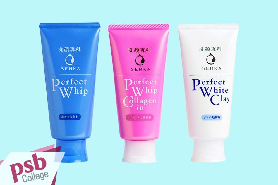 Bộ sản phẩm sữa rửa mặt Senka Perfect