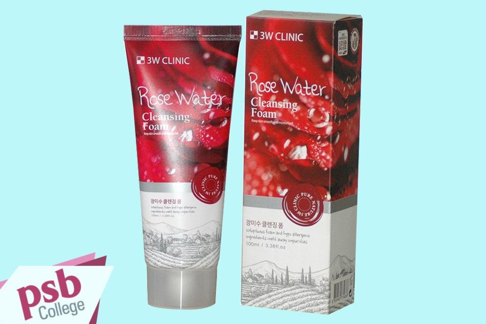 Sữa rửa mặt 3W Clinic Rose Water Cleansing Foam