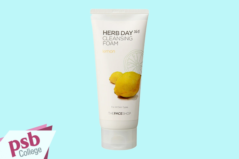 Sữa rửa mặt TheFaceShop Herb Day 365 Cleansing Foam Lemon