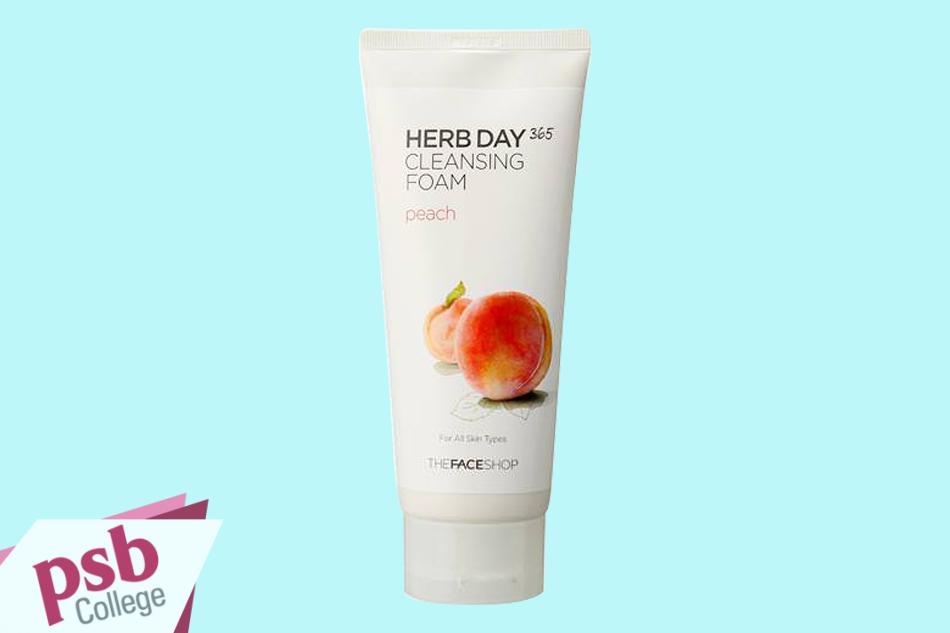 Sữa rửa mặt Sữa Rửa Mặt The Face Shop Herb Day 365 Cleansing Foam Peach