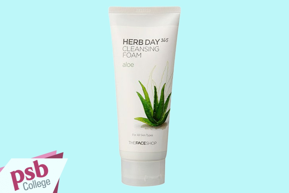 Sữa rửa mặt The Face Shop Herb Day 365 Cleansing Foam Aloe