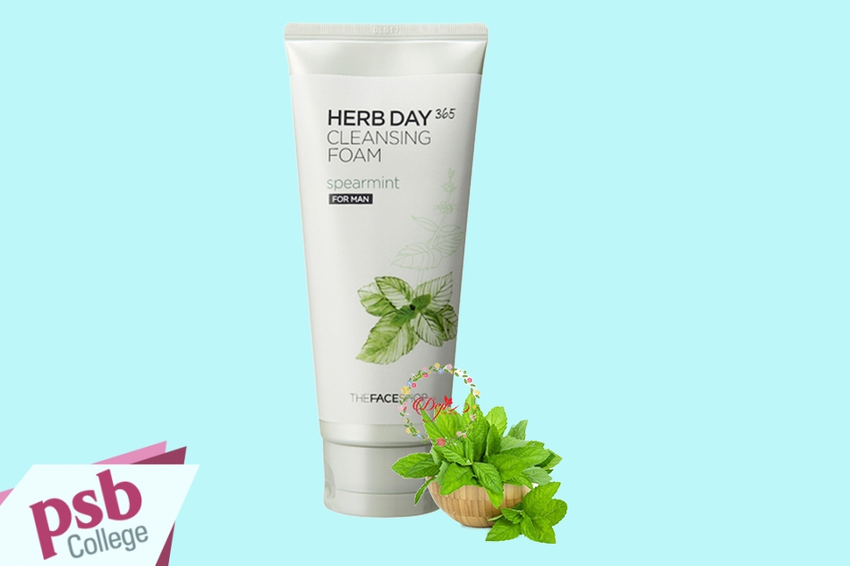 Sữa rửa mặt The Face Shop Herb Day 365 Cleansing Foam Spearmint