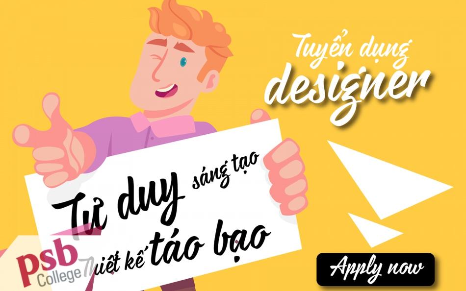 Vị trí nhân viên Design sẵn sàng đón CV của các bạn ứng viên