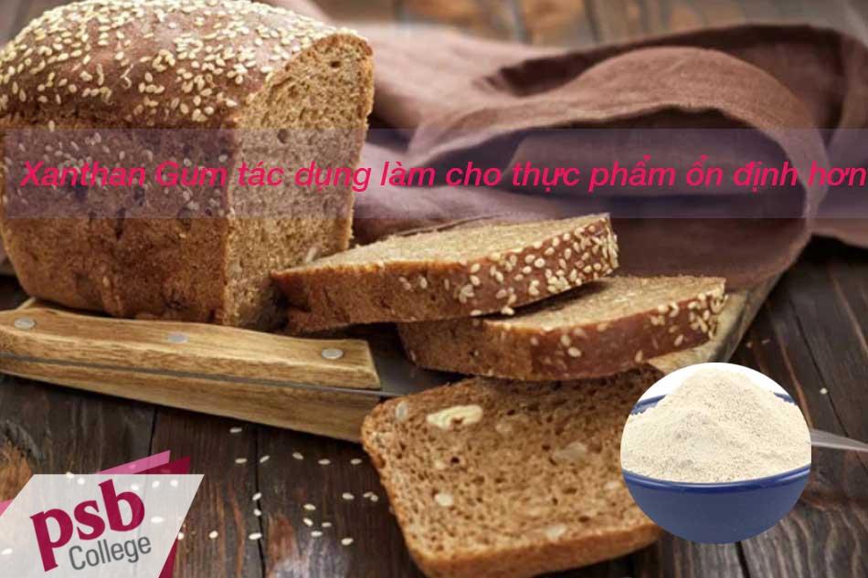 Xanthan Gum làm cho thực phẩm được ổn định hơn.