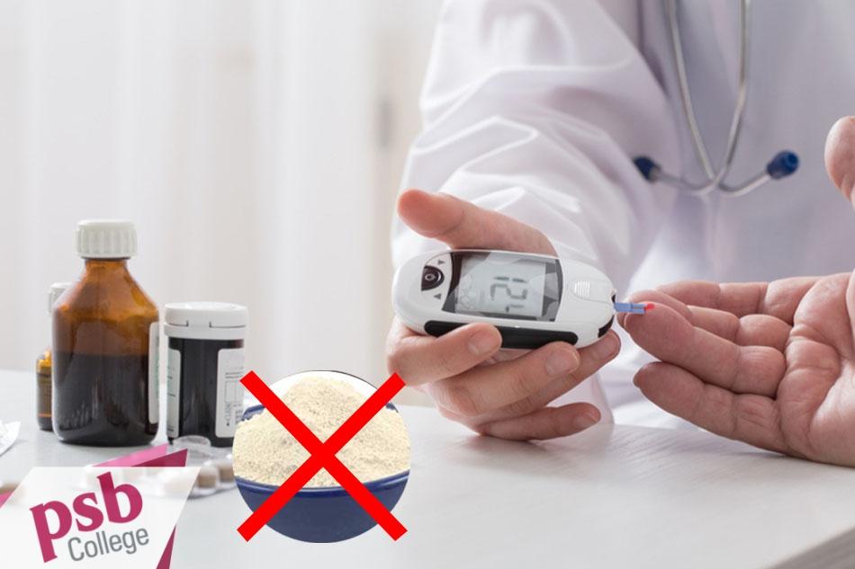 Những bệnh nhân đang dùng thuốc điều trị tiểu đường không sử dụng Xanthan Gum