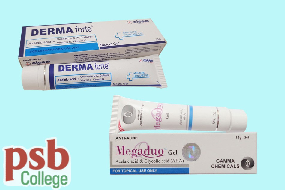 So sánh Gel trị mụn Derma forte và Megaduo Gel