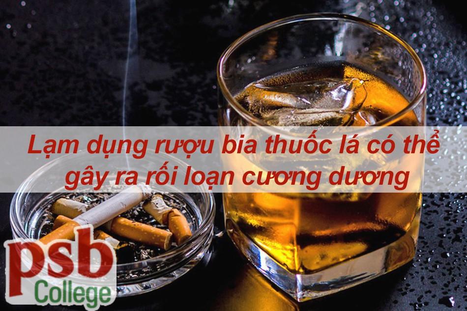 Lạm dụng rượu bia thuốc lá có thể dẫn đến rối loạn cương dương