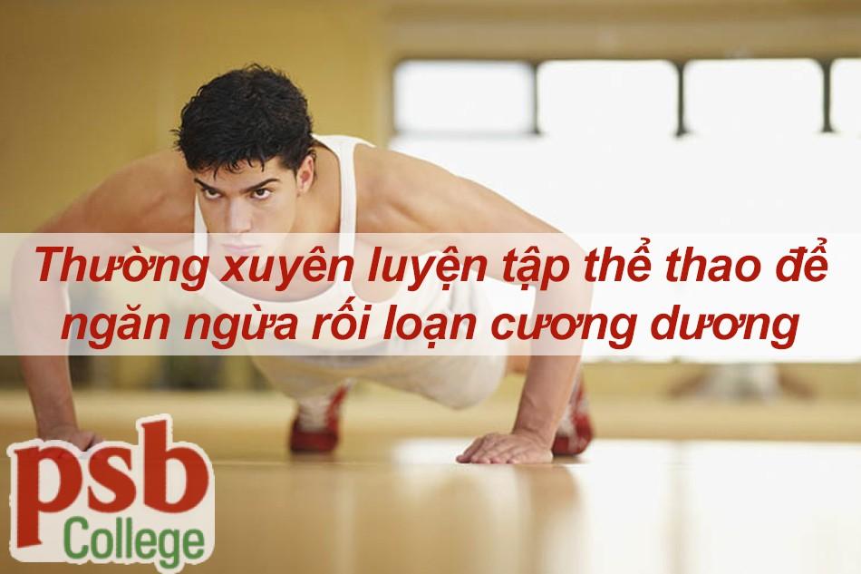 Thường xuyên luyện tập thể thao ngăn ngừa rối loạn cương dương