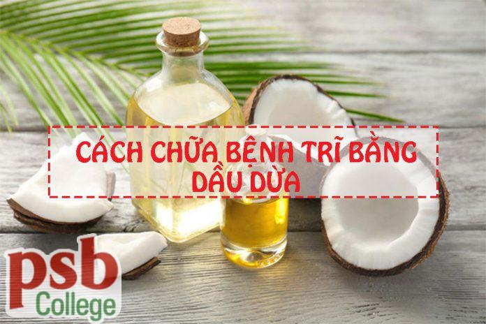 Hình ảnh chữa bệnh trĩ bằng dầu dừa