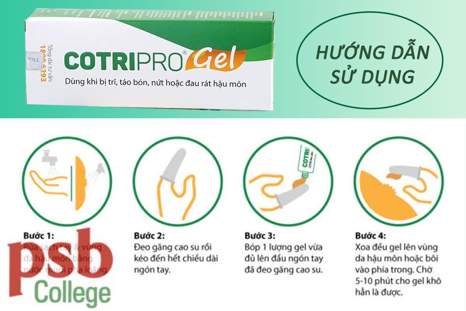 Hướng dẫn sử dụng Cotripro Gel