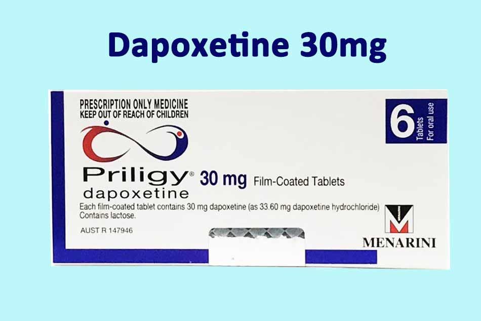 Priligy chứa 30mg Dapoxetine