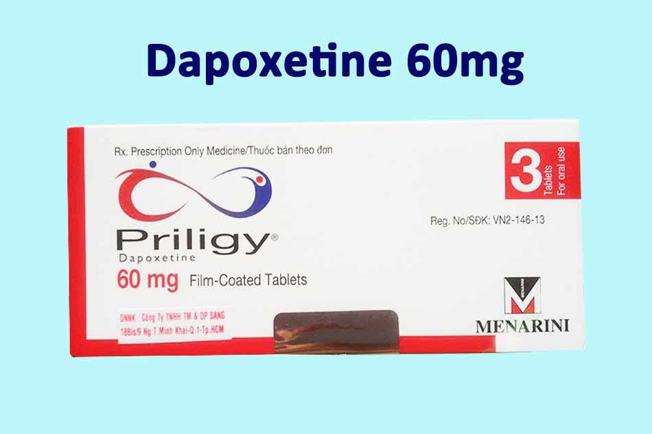 Priligy chứa 60mg Dapoxetine