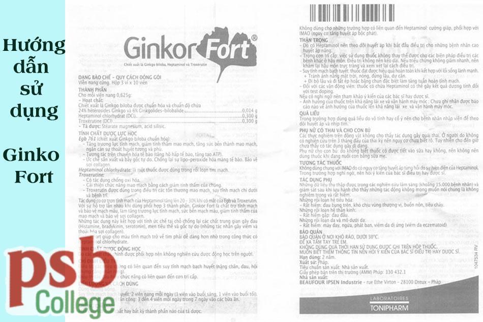 Dùng Ginkor Fort trong những trường hợp nào?