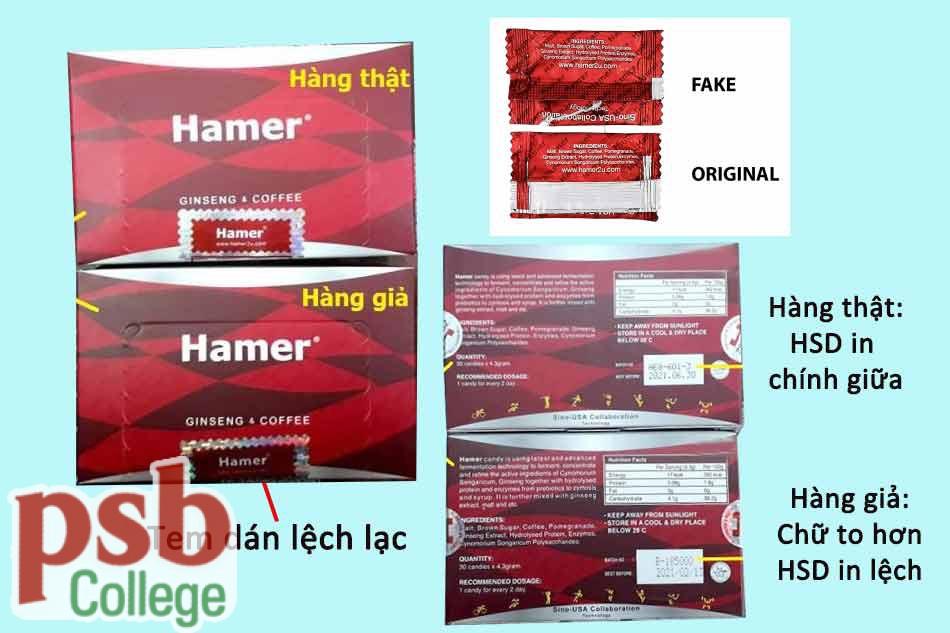 Phân biệt Hamer Candy hàng thật - hàng giả
