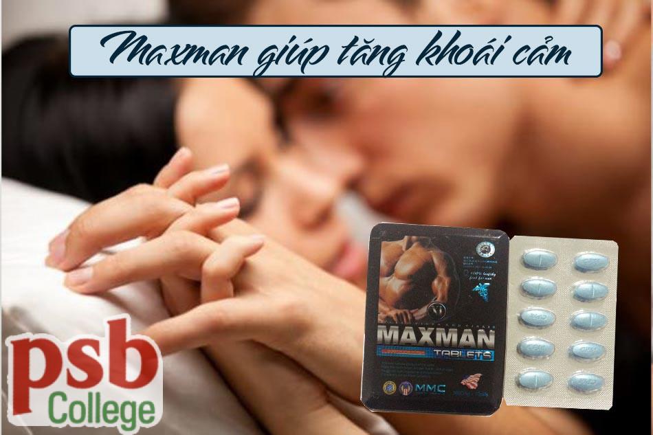 Maxman giúp tăng khoái cảm, kéo dài thời gian quan hệ