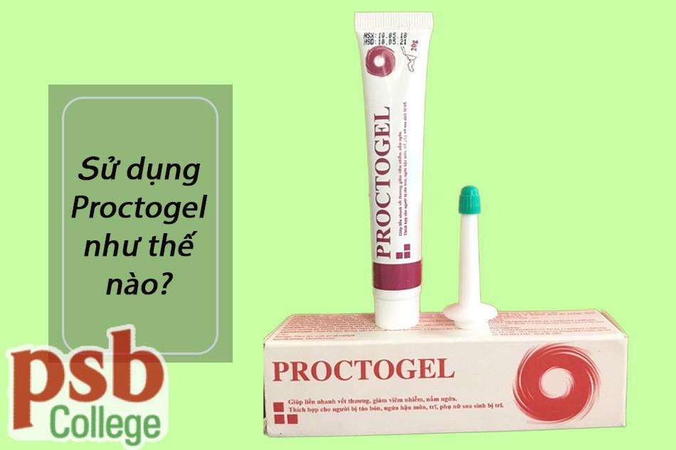 Sử dụng gel bôi trĩ Proctogel bằng cách bôi ngoài da