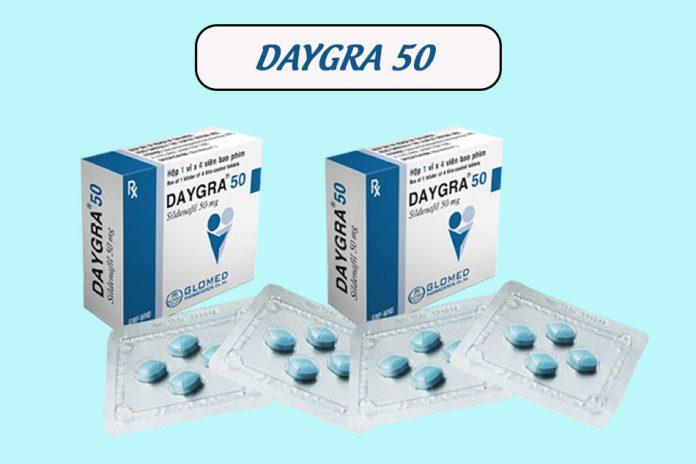 Hình ảnh hộp và vỉ thuốc Daygra 50