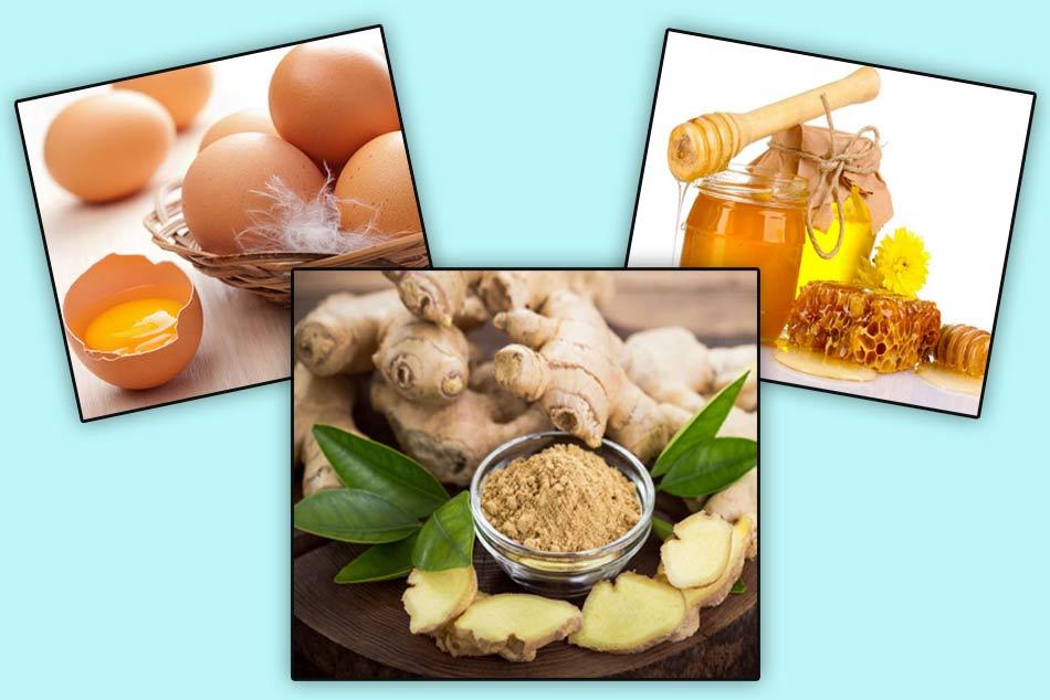 Kết hợp gừng với mật ong và trứng gà trị yếu sinh lý