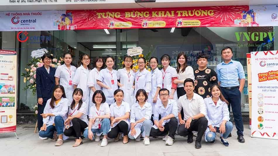 Đội ngũ dược sĩ nhà thuốc Trung Tâm Thuốc Central Pharmacy