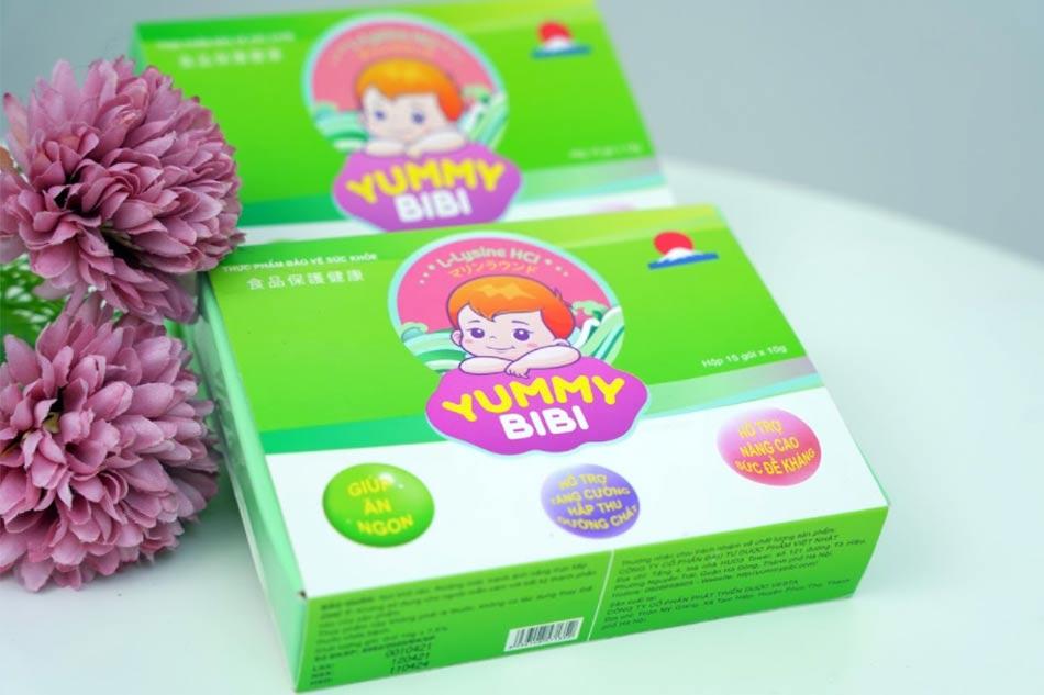 Yummy Bibi - sản phẩm dành cho trẻ biếng ăn