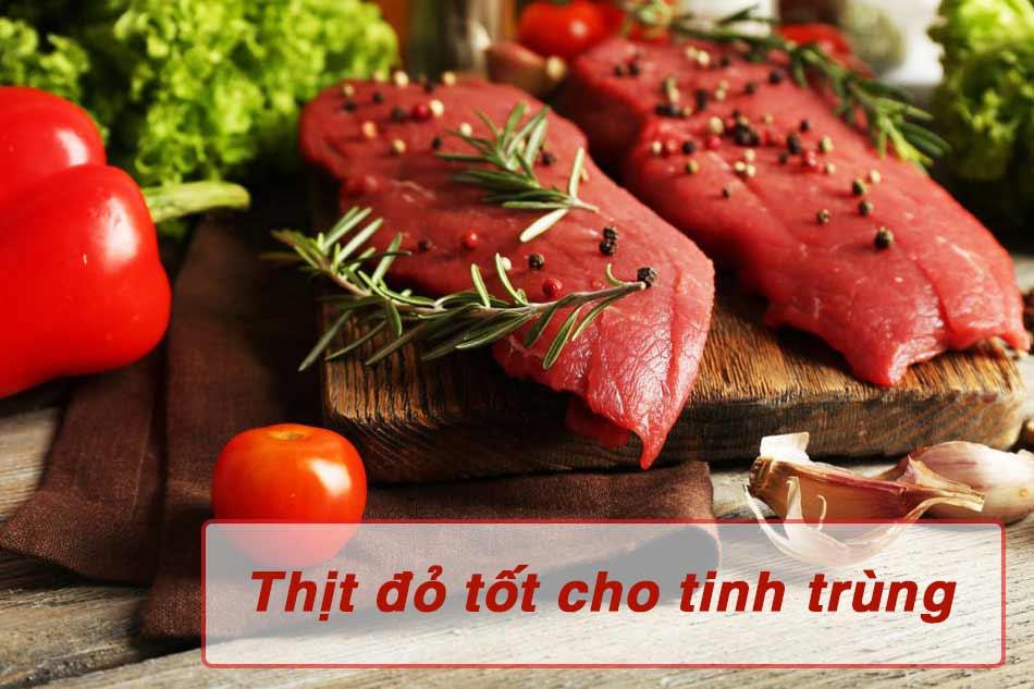 Các loại thịt đỏ rất tốt cho tinh trùng