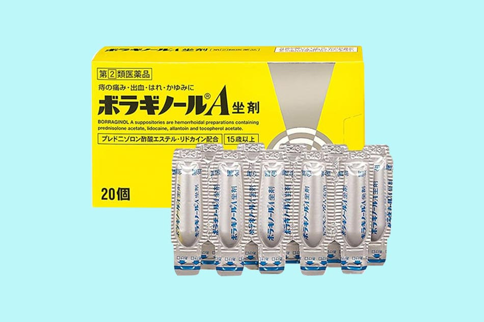Thuốc đặt hậu môn trị trĩ chữ A của Nhật Bản