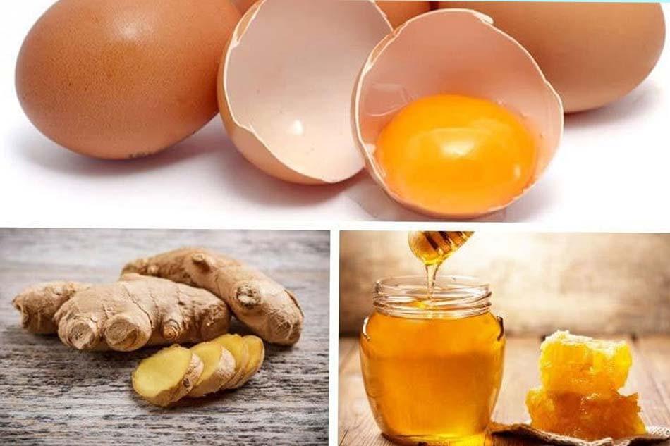 Hỗn hợp gừng, trứng gà, mật ong