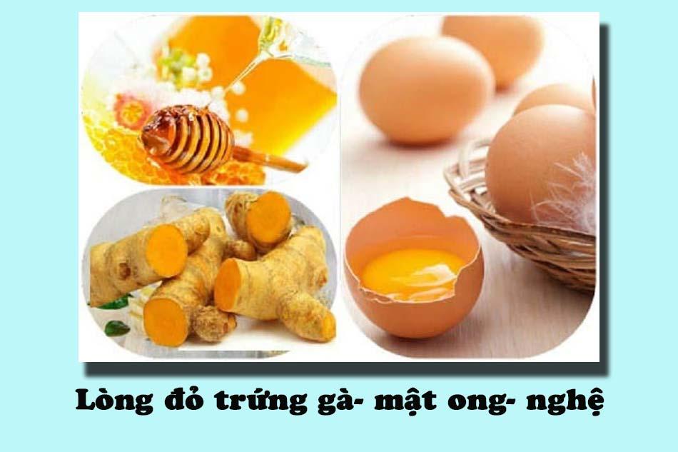 Áp dụng bài thuốc lòng đỏ trứng gà- mật ong- nghệ