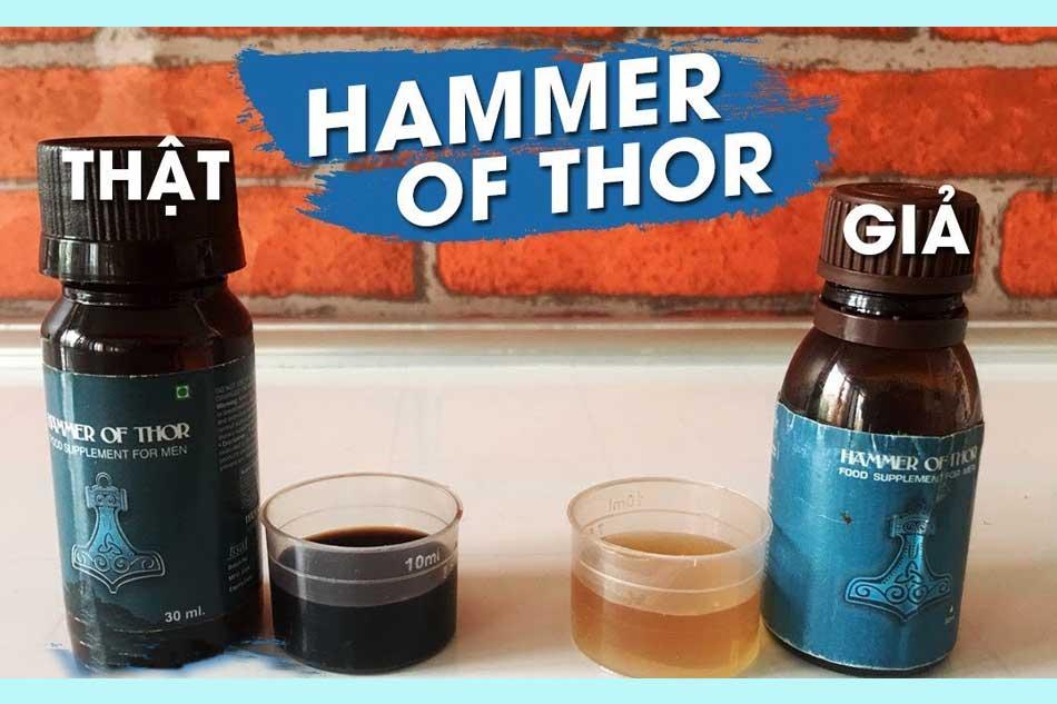 Phân biệt Hammer of Thor hàng thật và hàng giả