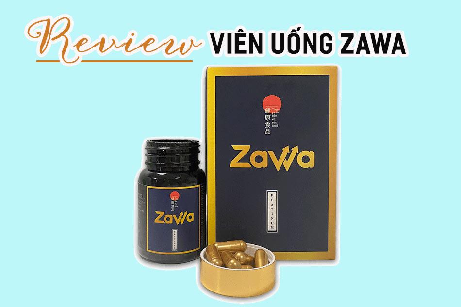 Lưu ý khi sử dụng viên uống Zawa